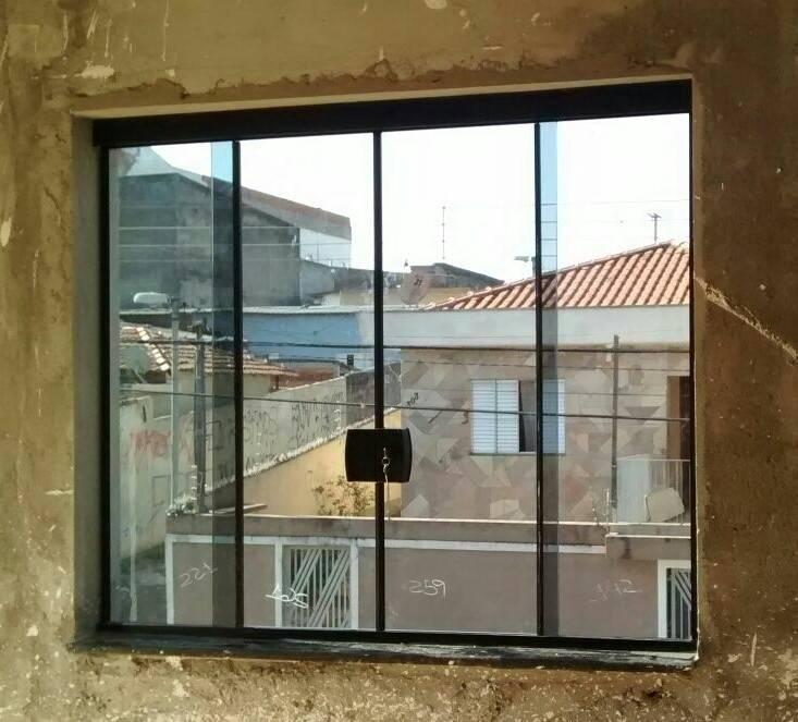 Fechamento de área de Serviço com Vidro no Jardim São Luiz - Vidro Jateado