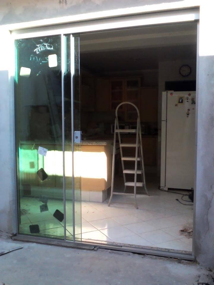Porta de Vidro Jateado Cozinha no Jardim América - Porta de Vidro Temperado