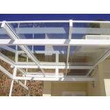 Cobertura de vidro para garagem em Belém