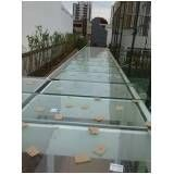 Cobertura de vidro para quintal preço no Tatuapé