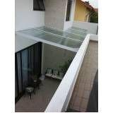 Cobertura de vidro para quintal em São Mateus