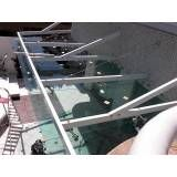 Loja de cobertura de vidro temperado no Socorro