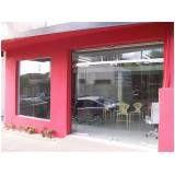 Loja de vitrine de vidro sp na Vila Andrade