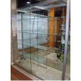 Loja de vitrine de vidro temperado na Cidade Patriarca